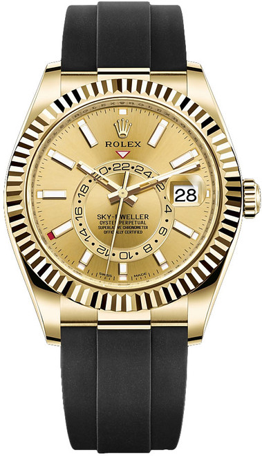 Rolex Yellow Gold Sky Dweller 326238 Champagne