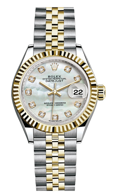 Rolex Lady Datejust 28mm Fluted Two-Tone 279173 MOPDFJ