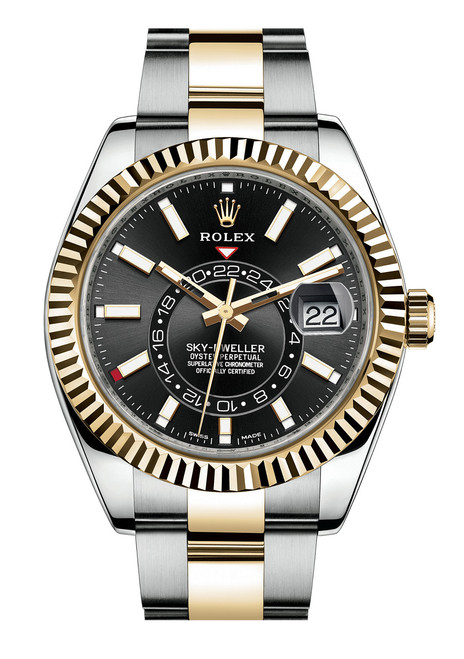 Rolex Stainless Steel and Yellow Gold Sky Dweller 326933B