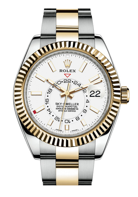 Rolex Stainless Steel and Yellow Gold Sky Dweller 326933W