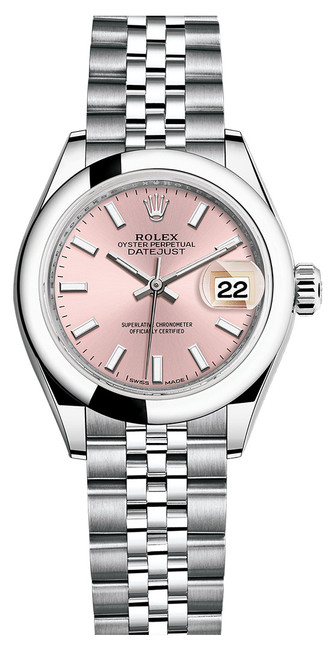 Rolex Lady Datejust 28mm Smooth Stainless Steel 279160PISJ