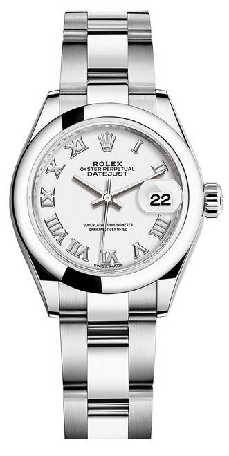 Rolex Lady Datejust 28mm Smooth Stainless Steel 279160WRSO