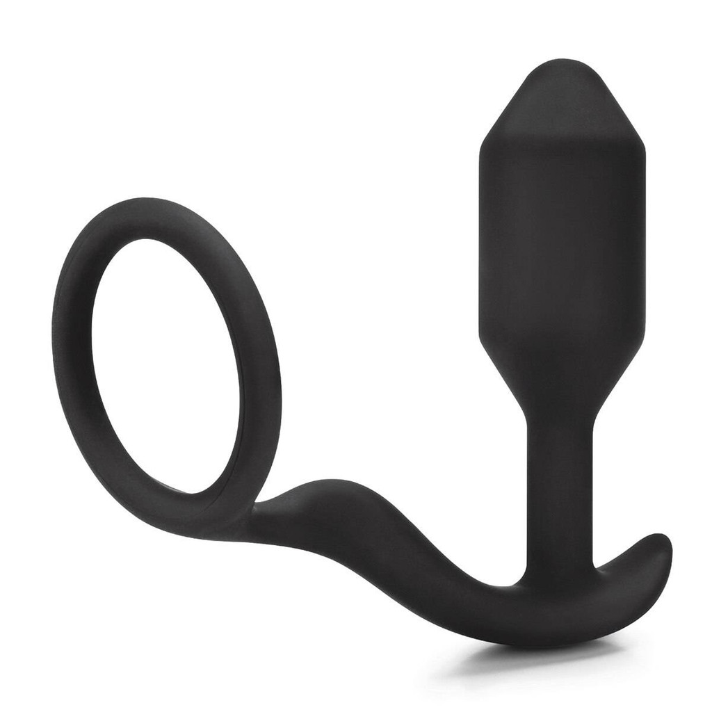 b-Vibe Snug and Tug Ring and Weighted Butt Plug