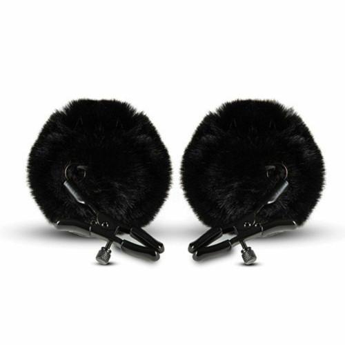 Blush Noir Pom Nipple Clamps