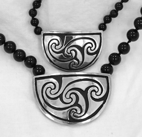 Small; Large (with Onyx beads)