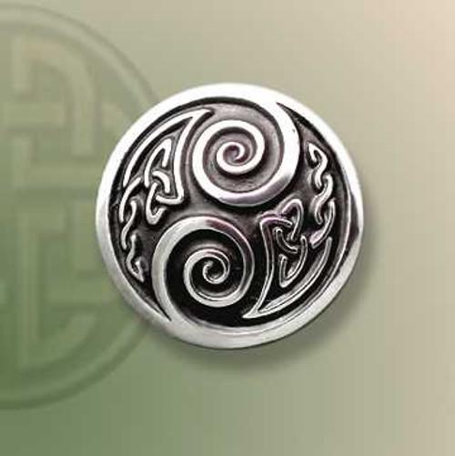 Fancy Two Spirals Lapel Pin