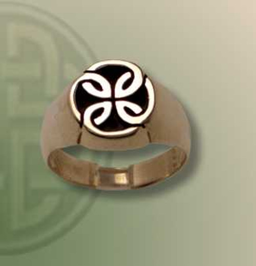 Star of Eire Signet Ring