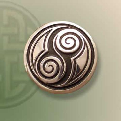 Two Spirals Tie Tack