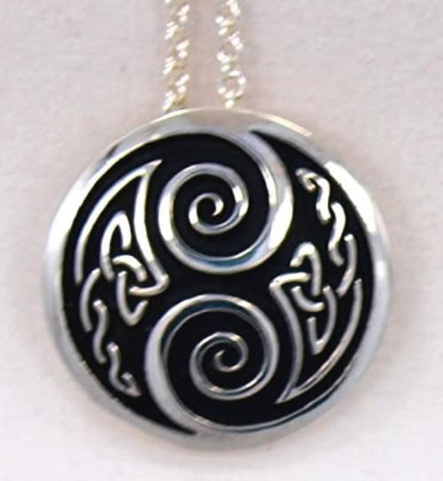 Fancy Two Spirals Pendant