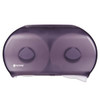 "San Jamar Twin 9"" Jumbo Tissue Dispenser - Black Pearl"