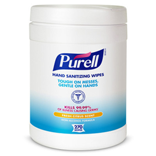 Purell Sanitizing Hand Wipes - 270 Count Canister (Case of 6)