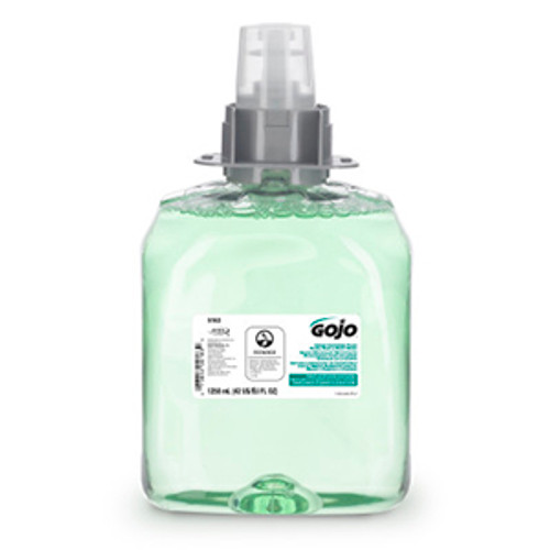 Gojo FMX-12 1250ml Green Certified Foam Hand, Hair & Body Wash Refills (Case of 4)
