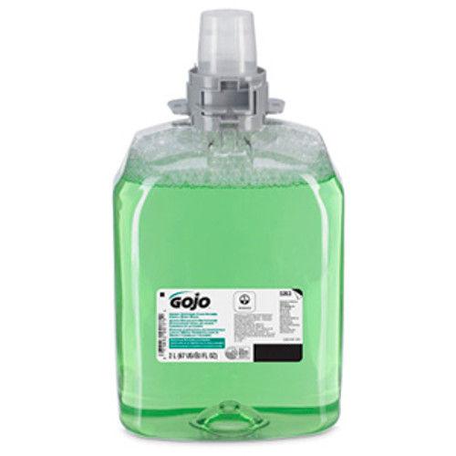 Gojo FMX-20 2000ml Green Certified Foam Hand, Hair & Body Wash Refills (Case of 2)