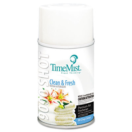 TimeMist 9000 Shot Refills (Case of 4) - Clean & Fresh