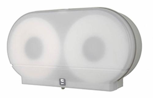 "Palmer Fixture Twin 9"" Jumbo Tissue Dispenser - White Translucent"
