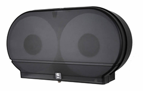 "Palmer Fixture Twin 9"" Jumbo Tissue Dispenser - Black Translucent"