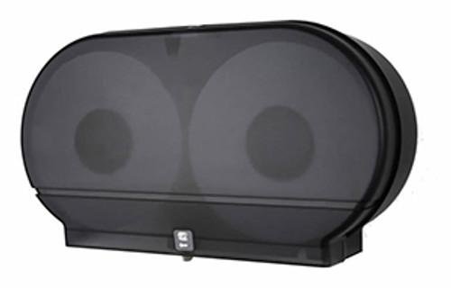 "Palmer Fixture Twin 9"" Jumbo Tissue Dispenser - Black Translucent"