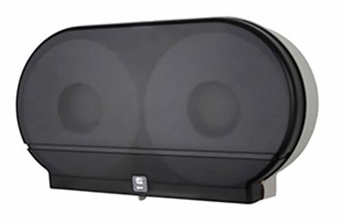 "Palmer Fixture Twin 9"" Jumbo Tissue Dispenser - Dark Translucent"