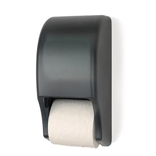Palmer Fixture Two Roll Standard Tissue Dispenser - Dark Translucent