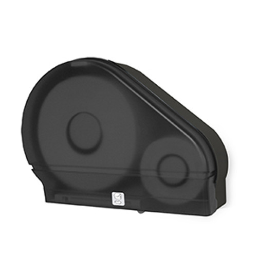 "Palmer Fixture Single 9"" Jumbo Tissue Dispenser with Stub Roll - Black Translucent"