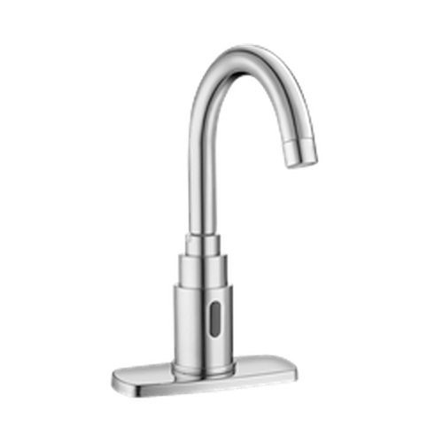 "Sloan SF2250 Battery-Powered Deck-Mounted Gooseneck Body Faucet (4"" Trim Plate)"