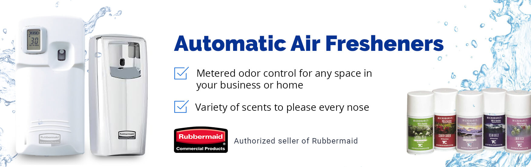 Automatic air fresheners from rubbermaid