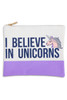 Travel Pouch - I Believe In Unicorns by Shade Critters