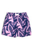 Navy/Pink Palm Reader Swim Shorts  by Shade Critters UPF50