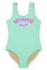 Mint Mermaid on Duty Scoop Swimsuit (Scales appear when wet!)  by Shade Critters UPF50 Alt Image