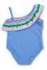 Periwinkle It's All Rainbows One Shoulder Swimsuit by Shade Critters UPF50 alt