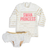 White Swan Princess Rashguard Set  by Shade Critters UPF50