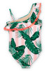 Tween Pink Cabana Botanical One Shoulder Swimsuit by Shade Critters UPF50 alt