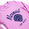 Lilac Mermaid on Duty Rashguard (Scales appear when wet!)  by Shade Critters UPF50