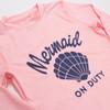 Mermaid on Duty - Pink Rashguard  (Scales Appear When Wet!)
