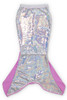 Purple/Silver Flippable Sequins Mermaid Tail  by Shade Critters UPF50 Alt Image