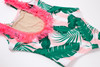 Picture Pink Cabana Botanical Scoop Swimsuit w/Fringe Back View