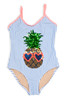 pic of One Piece Flip Sequins - Pineapple Blue Pinstripe