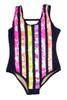 Flip Sequin One Piece - Navy Stripe