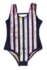 pic of Flip Sequin One Piece - Navy Stripe