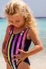 pic of Flip Sequin One Piece - Navy Stripe