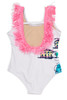 pic of One Piece Fringe Back - White Beachscape