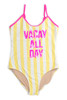 """pic of One Piece flip sequins - yellow striped """"vacay"""" suit"""