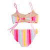 Two Piece Bikini - rainbow stripe with braided straps