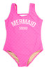 """pic of One Piece tank suit- hot pink """"mermaid squad"""" suit"""