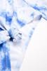pic of Two Piece cropped rash guard set - blue tie dye bikini