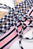 alt pic Two Piece Tie Back Bikini - Navy Gingham