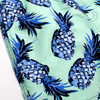 Detail of Youth Boys Mint Pineapple  Stretch Swim Trunks