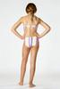 Detail of Two Piece Braided Strap Bikini - Summer Coral Stripe