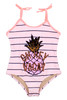 Detail of One piece  Magic Flip Sequin- Striped Pineapple
