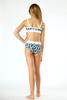 Detail of Two Piece Bikini - Navy Daisy w/ Ribbed Trim